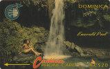 Dominica, DOM- ?, Emerald Pool, No Control, White Strip, 2 Scans. - Dominica