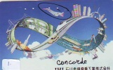 Télécarte Japon  AVION (1) CONCORDE * AIR FRANCE *  AIRPLANE * PHONECARD * JAPAN TELEFONKARTE FLUGZEUG * AIRPORT - Airplanes