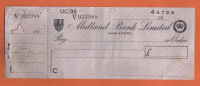 MIDLAND BANK LIMITED  1960 - VERY INTERESTING - - Cheques & Traveler's Cheques