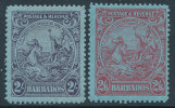 BARBADOS 1925/32 SEAL OF THE COLONY  2 ANS 2/6 SC# 177-178 VF OG HINGED - Barbados (1966-...)