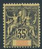 COMORO ISLANDS GRAND COMORO 1897 35 CENTS NAVIGATION AND COMMERCE SC# 13 VF OG HR - Comoros
