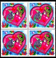 Nouvelle Calédonie 2012 Saint Valentin ( Bloc De 4 ) - Nouvelle-Calédonie