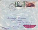 NOUVELLE CALEDONIE - 1954 - ENVELOPPE Par AVION De NOUMEA Pour AIX En PROVENCE - Nueva Caledonia