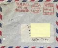 Lettre De Bolivie Vers Le Pérou - Affranchissement Machine - Bolivia