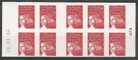 CARNET  GUICHET MARIANNE DE LUQUET   ---  LA FRANCE A VIVRE  Daté 10.03.04 - Carnets