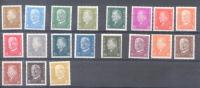 1928-32 PRESIDENTS FILIGRANE B DENTELES 14 AVEC CHARNIERE LEGERE YVERT NRS. 401-414 - Alemania