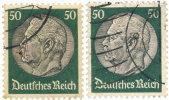 Empire Reich 1933. ~ YT 496 (lot De 2) - 50 P. Maréchal Hindenburg - Germania