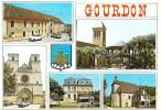 1988 GOURDON MULTI VUES PEUGEOT RENAULT FLAMME GOURDON - Gourdon