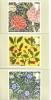 Morris & Co.  -  Furnishing Fabric Designers  -  Full Set Of 6 Stamp Cards - 1952-.... (Elisabetta II)