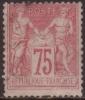 France N° 81 Obl. Cote : 120.00 € - 1876-1898 Sage (Type II)