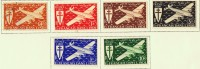 INDE 1942  Série De Londres  Poste Aérienne  PA 1-6  * Et Oblitéré - Indien (1892-1954)