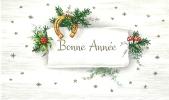 Bonne Année - Houx Et Fer à Cheval - Nouvel An