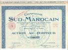 Compagnie Du SUD-MAROCAIN   Action   De 500F Au Porteur    Le 23 Mars 1927 A Paris - Shareholdings