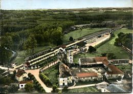 N°17898 GF -cpsm Crouy Sur Ourcq -la Gare Et Le Château -vue Aérienne- - Francia