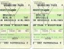 6 Boarding Passes SN Brussels Airlines 2002 - Brussels Berlin And Geneva - Instapkaart