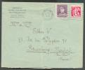 1Fr50 KEPI + 25 Cent. Cérès Obl. NAMUR S/L. Du 16-II-1938 Vers Strasbourg (expéditeur Institut Saint Berthui à Malonne) - 1932 Ceres Y Mercurio