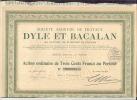 Societe ANONYME DE TRAVAUX    DYLE ET BACALAN    Action De 300F  Au Porteur    PARIS Le 30 Dec 1921 - Shareholdings