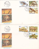 DINOSAURS, PREHISTORIC ANIMALS, 2X, 1993, COVER FDC, ROMANIA - Timbres