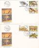 DINOSAURS, PREHISTORIC ANIMALS, 2X, 1993, COVER FDC, ROMANIA - Préhistoriques