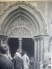 Alsace , Colmar , église Saint Martin , Le Jour De La Féte Dieu , Héliogravure 1948 - Documents Historiques
