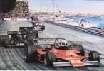 Monaco Grand Prix  - 1976  -  Chris Amon  -  Ensign-Ford   -  Art Card By Alan Preece - Grand Prix / F1