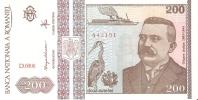 BILLETE DE RUMANIA DE 200 LEI SERIE D DEL AÑO 1992 (BANK NOTE) SIN CIRCULAR (NUEVO-MINT) - Rumania