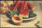 CARLO  CHIOSTRI   Fruits     Signed  Old Postcard  1931. - Chiostri, Carlo