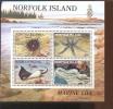 NORFOLK  ISLAND 380 A  MINT NEVER HINGED MINI SHEET OF FISH-MARINE LIFE  #  M-736   ( - Mundo Aquatico