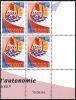 POLYNESIE 2004 - Yv. 722 ** SUP Bloc De 4 Coin Daté  Cote= 30,50 EUR - Autonomie ..Réf.POL11708 - Polinesia Francesa
