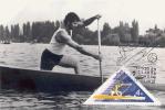D06516 CARTE MAXIMUM CARD TRIPLE 1973 HUNGARY - CANOE KANADIER CP ORIGINAL - Canoe
