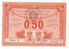 1 Billet De 0.50 - 1920-1923 - CHAMBRE DE COMMERCE DE CAEN - HONFLEUR - Chambre De Commerce