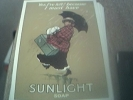 Postcard Unused Reprint Sunlight Soap - Woman With Umbrella - Pubblicitari