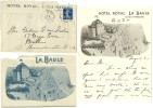 LOIRE INFERIEURE ENV 1909 LA BAULE LETTRE AVEC MEME ILLUSTRATION ENVELOPPE - Marcophilie (Lettres)