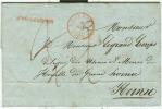 """Belgique - Précurseur De Le Roeulx Vers Hornu Du 08/06/1848, Griffe """"après Le Départ"""", """"St Ghislain"""" Au Verso, See Scan - 1830-1849 (Belgique Indépendante)"""