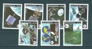 Nicaragua:  1165/ 1168 + PA 969/ 971 **  Espace - Ruimtevaart