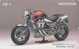 Télécarte Japon - MOTO HONDA - MOTOR BIKE Japan Phonecard - MOTORRAD Telefonkarte - 169 - Motorbikes