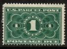 U.S.A.   Scott #  JQ 1*  F-VF MINT Hinged - Parcel Post & Special Handling