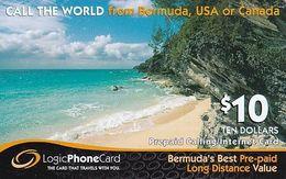 BERMUDA ISL. - Beach, Logic Comm Prepaid Card $10, Used - Bermude