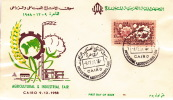 1958 Agricultural And Industrial Fair   Handpainted Unadressed  Overseas Mailers FDC  Sc 456 - Egypt