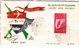 1959  Army DAy Handpainted Unadressed  Overseas Mailers FDC  Sc 491 - Briefe U. Dokumente
