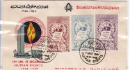 1958 Human Rights   Unadressed Handpainted Overseas Mailers FDC  Airmail Stamps - Syria