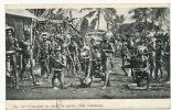 No 10 Canaques En Tenue De Guerre Nlle Caledonié  Timbrée Noumea 1906 - New Caledonia