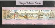 Australia Post Maximum / Collector Card Set 1987 First Fleet ' Departure ' 5 Cards In Pack - Maximum Cards