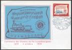 """Luxemburg - Luxembourg - Michel 611 Auf Sonderkarte """"100 Jahre Eisenbahn Luxemburg"""" 4.10.1959 - FDC"""