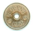 5 BANI 1906 - ROMANIA-FLAT EDGE--NICE GRADE - Rumania