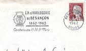 1962 France Besancon Montre Horloge Horlogerie Watch Clock Watchmaking Orologio Orologiera Reloj Uhr - Clocks