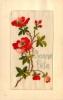 Belle Carte Brodée - Magnifiques Roses Rouges Pour Une Bonne Fête - 2 Scans - Brodées