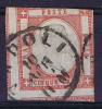 Italy: 1861 Sas 21 / Michel 5 Used / Obl. - 1861-78 Vittorio Emanuele II