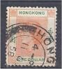 HONG KONG 1954 QUEEN ELIZABETH Orange And Green - $1 FU - Hong Kong (...-1997)