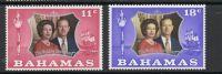 1972 - BAHAMAS - NOZZE D´ARGENTO REALI INGLESI / SILVER WEDDING - SET. MNH - Emissioni Congiunte